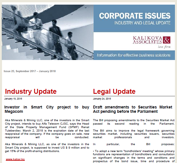 IBC — Analysis — Kalikova & Associates: PPP, Corporate